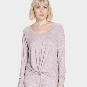 UGG Fallon Purple Lounge Twist Sweater Top